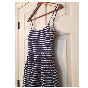J. Crew Dresses - JCrew Striped Midi Dress.
